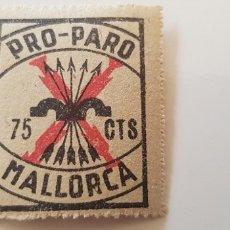 Sellos: CRUZADA CONTRA EL PARO-75 CTS MALLORCA. Lote 182601053