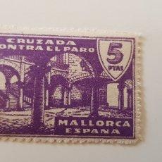 Sellos: CRUZADA CONTRA EL PARO-5 PESETAS MALLORCA. Lote 182601153