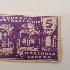 Sellos: CRUZADA CONTRA EL PARO-5 PESETAS MALLORCA. Lote 182601172