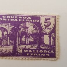 Sellos: CRUZADA CONTRA EL PARO-5 PESETAS MALLORCA. Lote 182601185