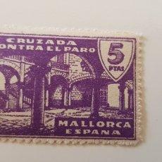 Sellos: CRUZADA CONTRA EL PARO-5 PESETAS MALLORCA. Lote 182601260