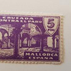 Sellos: CRUZADA CONTRA EL PARO-5 PESETAS MALLORCA. Lote 182601272