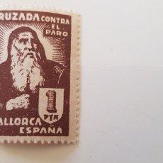 Sellos: CRUZADA CONTRA EL PARO-5 PESETAS MALLORCA. Lote 182601342