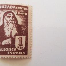 Sellos: CRUZADA CONTRA EL PARO-5 PESETAS MALLORCA. Lote 182601363