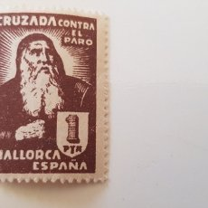 Sellos: CRUZADA CONTRA EL PARO-5 PESETAS MALLORCA. Lote 182601427