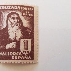 Sellos: CRUZADA CONTRA EL PARO-5 PESETAS MALLORCA. Lote 182601456