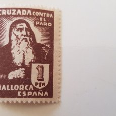 Sellos: CRUZADA CONTRA EL PARO-5 PESETAS MALLORCA. Lote 182601505