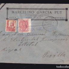 Sellos: * CARTA RUTE (CÓRDOBA)-SEVILLA 1937. CENSURA MILITAR RUTE. INSTALADOR PARTICULAR MARCELINO GARCÍA *. Lote 182708497