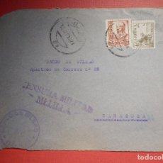 Sellos: SELLO CENSURA MILITAR - MELILLA - BANCO BILBAO - 1937. Lote 182768708
