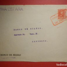 Sellos: SELLO CENSURA MILITAR - SAN SEBASTIAN - VIVA ESPAÑA - BANCO DE BILBAO - 1937. Lote 182768837