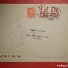 Sellos: SELLO CENSURA MILITAR - VIZCAYA - VIVA ESPAÑA - BANCO DE BILBAO - 1937. Lote 182768906