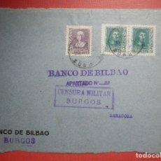 Sellos: SELLO CENSURA MILITAR - BURGOS - VIVA ESPAÑA - BANCO DE BILBAO - 1937. Lote 182768925