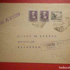 Sellos: SELLO CENSURA MILITAR - BARCELONA - VIVA ESPAÑA - BANCO DE BILBAO - 1937. Lote 182768962