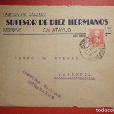 Sellos: SELLO CENSURA MILITAR - CALATAYUD - VIVA ESPAÑA - BANCO DE BILBAO - 1937. Lote 182769325
