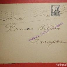 Sellos: SELLO CENSURA MILITAR - ZARAGOZA - VIVA ESPAÑA - BANCO DE BILBAO - 1937. Lote 182769401