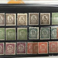 Sellos: LOTE DE 21 SELLOS DE CIFRAS DE 1938, EDIFIL 731 745 746 747 749 750 , NUEVOS SIN FIJASELLOS, MNH. Lote 182769461