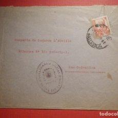 Sellos: - CENSURA - SELLO COMANDANCIA MILITAR - MEDINA DEL CAMPO - VALLADOLID - 1937. Lote 182769573