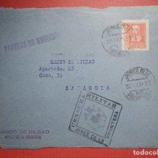 Sellos: SELLO CENSURA MILITAR - JEREZ DE LA FRONTERA - BANCO DE BILBAO - 1939. Lote 182769758
