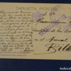Sellos: TARJETA POSTAL MONASTERIO DE GUADALUPE. BRIGADA DE NAVARRA. CENSURA MILITAR. . Lote 182831238
