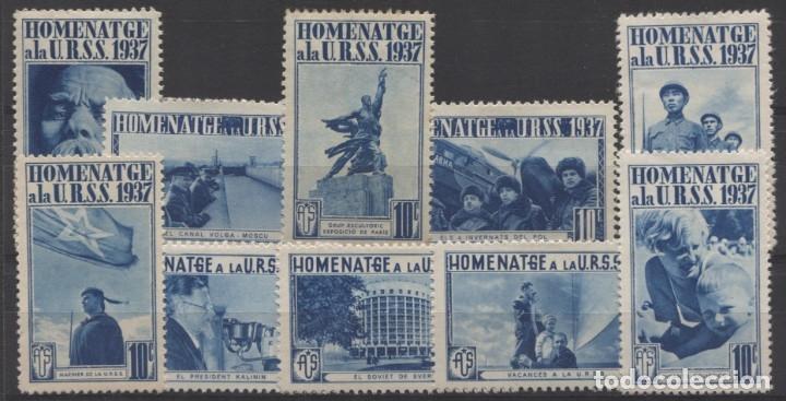 HOMENAJE A LA URSS - GÓMEZ GUILLAMÓN 1739B/48B (Sellos - España - Guerra Civil - Viñetas - Nuevos)