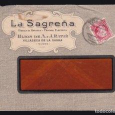 Sellos: *** CARTA VILLASECA DE LA SAGRA (TOLEDO) 1937. LA SAGREÑA, FABRICA DE HARINAS. CENSURA TOLEDO ***. Lote 182960613