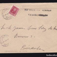 Sellos: *** CARTA VALDEAVELLANO DE TERA (SORIA)-CÓRDOBA 1938. CENSURA MILITAR VALDEAVELLANO (RARA) ***. Lote 183068671