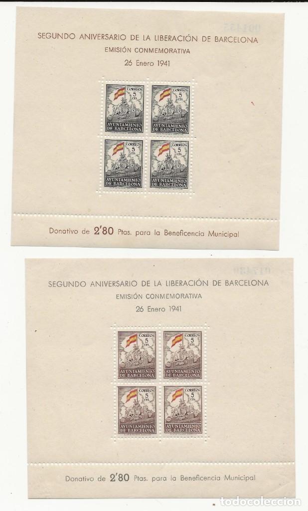 R35/ BARCELONA 29/30 MH* (Sellos - España - Guerra Civil - De 1.936 a 1.939 - Nuevos)
