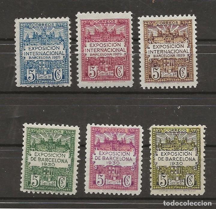 R35/ BARCELONA 1/6 MH* (Sellos - España - Guerra Civil - De 1.936 a 1.939 - Nuevos)