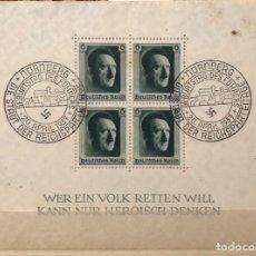 Sellos: 1937 BLOQUE SELLOS ANIVERSARIO HITLER. Lote 183198380