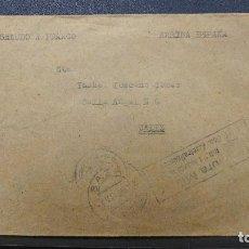 Sellos: CARTA CON MARCA CENSURA MILITAR REGIMIENTO INFANTERIA LEPANTO N°6 AMETRALLADORAS 1939. Lote 183436460