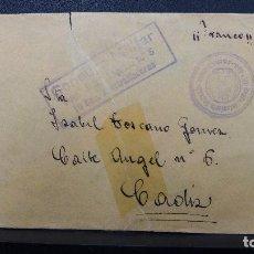 Sellos: CARTA CON MARCA CENSURA MILITAR REGIMIENTO INFANTERIA LEPANTO N°5 AMETRALLADORAS . Lote 183438858