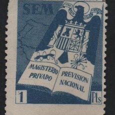 Sellos: S.E.M. 1 PTA. MASGITERIO PRIVADO- PREVISION NACIONAL, VER FOTO. Lote 183474125