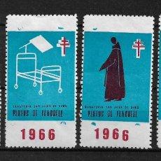 Sellos: VIÑETAS TUBERCULOSIS VENDRELL 1966 * - 14/22. Lote 183489615