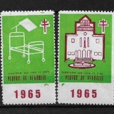 Sellos: VIÑETAS TUBERCULOSIS VENDRELL 1965 * - 14/22. Lote 183489648