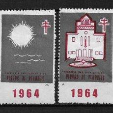 Sellos: VIÑETAS TUBERCULOSIS VENDRELL 1964 * - 14/22. Lote 183489675