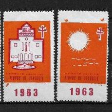 Sellos: VIÑETAS TUBERCULOSIS VENDRELL 1963 * - 14/22. Lote 183489695