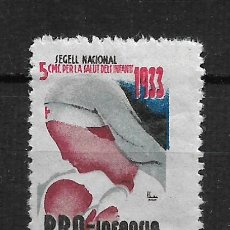 Sellos: VIÑETAS SEGELL PRO INFANCIA 1933 * - 14/22. Lote 183490660