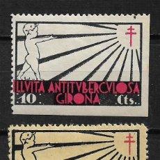 Sellos: VIÑETAS TUBERCULOSIS GIRONA - 14/22. Lote 183492006