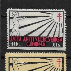 Sellos: VIÑETAS TUBERCULOSIS GIRONA - 14/22. Lote 183492020