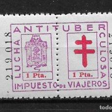 Sellos: VIÑETAS LUCHA ANTITUBERCULOSA VIZCAYA IMPUESTO DE VIAJEROS ** - 14/27. Lote 183540062
