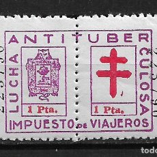 Sellos: VIÑETAS LUCHA ANTITUBERCULOSA VIZCAYA IMPUESTO DE VIAJEROS ** - 14/27. Lote 183540071