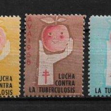 Sellos: VIÑETAS TUBERCULOSIS AVA 1958 VENDRELL ** - 14/26. Lote 183540321