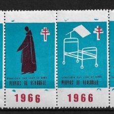 Sellos: VIÑETAS TUBERCULOSIS 1966 VENDRELL ** - 14/26. Lote 183540637