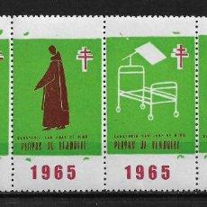 Sellos: VIÑETAS TUBERCULOSIS 1965 VENDRELL ** - 14/26. Lote 183540660