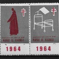 Sellos: VIÑETAS TUBERCULOSIS 1964 VENDRELL ** - 14/26. Lote 183540683