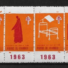 Sellos: VIÑETAS TUBERCULOSIS 1963 VENDRELL ** - 14/26. Lote 183540700