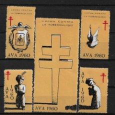 Sellos: VIÑETAS TUBERCULOSIS AVA 1960 VENDRELL ** - 14/24. Lote 183540895