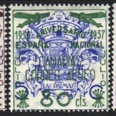 Sellos: CANARIAS 1937 EDIFIL Nº 31 / 33 /**/, SIN FIJASELLOS, . Lote 183864763