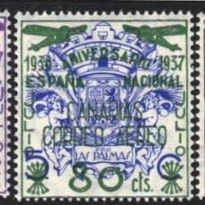 Sellos: CANARIAS 1937 EDIFIL Nº 31 / 33 /**/, SIN FIJASELLOS, . Lote 183864780