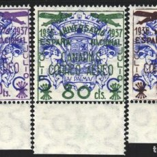 Sellos: CANARIAS 1937 EDIFIL Nº 31 / 33 /**/, SIN FIJASELLOS, . Lote 183864801